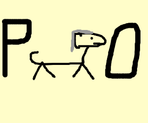 Bad drawn horse walks from P to O