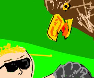 badass hawk handler