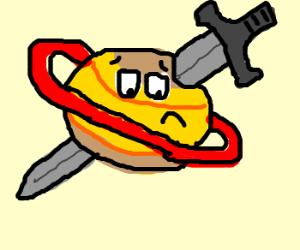 A sword in Saturn