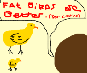 Fat birds are better