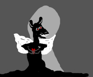 darkness creature grasps heart. BW style