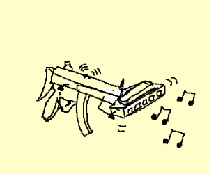 machinegunin peeps and playin harmonica