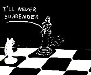 black chess king doesn't surender