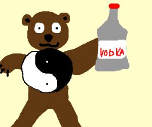 Ying Yang Bear shows Vodka