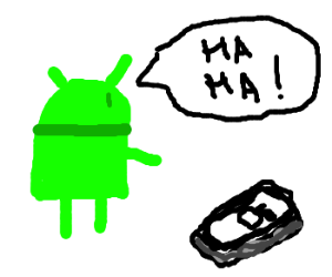 Android laughs at I phone