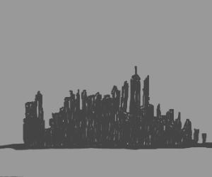 1940's New York skyline
