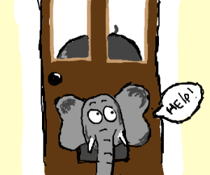 Elephant tries to use cat door.  sc 1 st  Drawception & Canu0027t draw with a notebook trackpad pezcame.com
