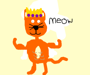 Buff, mutated cat is a king