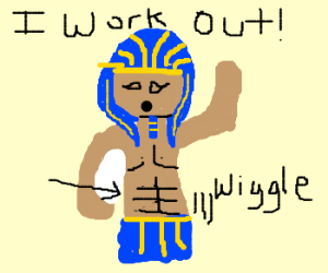 King Tut has a six pack