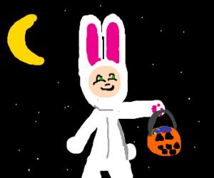 A rabbit doll... No, it's a costume.