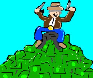 Texan oil tycoon sits atop cash mountain