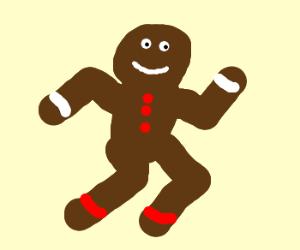 Running gingerbread man