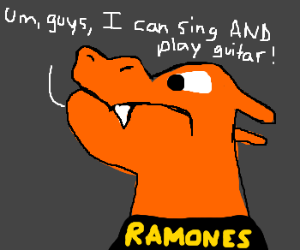 Charizard wants to be with The Ramones