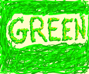 Green with green scribbles