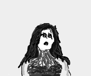morticia as a zombie