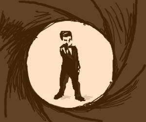 Pierce Brosnan as James Bond; gun intro