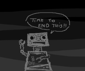 robot tired of being a robot... :[