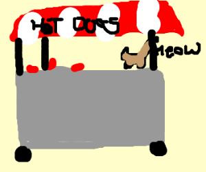 Kitty Hotdog Cart