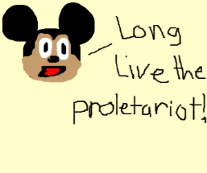 Mickey Mouse conforms to marxism