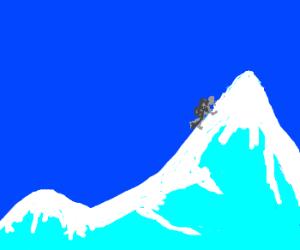 mountainer climbs everest
