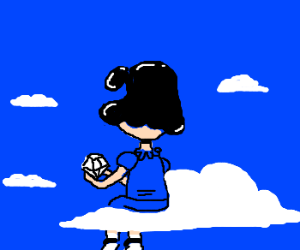 lucy (charlie brown) in sky w/ diamonds