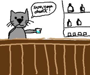cat bartender