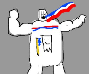 toothpaste man