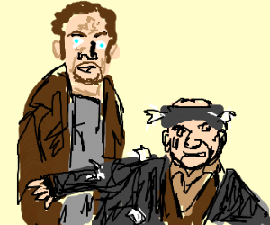 Home alone: the two burglar men