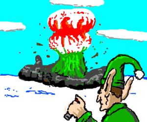 Santa has the ☢ bomb, elf detonates it
