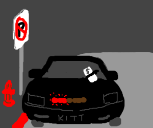 K.I.T.T gets a parking ticket.