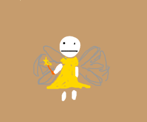 Blank pixie in sparkely yellow dress