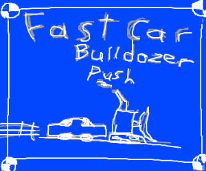 Mythbusters: Fast car can push bulldozer