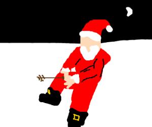 Santa Takes an arrow to the knee