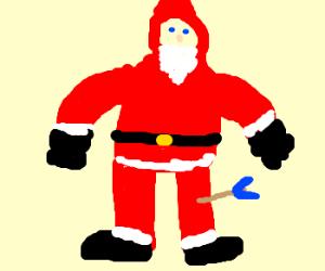 Santa took an arrow to the knee