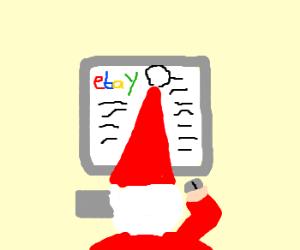 even santa gets his prezzies online