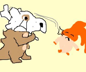 Epic battle between Pokemon and Digimon