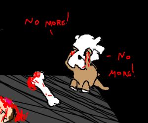 cubone bashes man to death