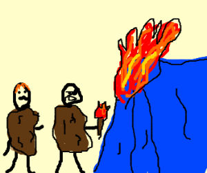Two Hobos and a Campfire