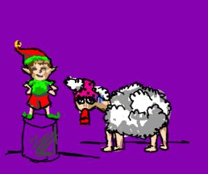 Uppity Elf shames Sad Sheep
