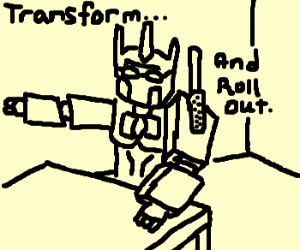 Optimus Prime - guidance counsellor