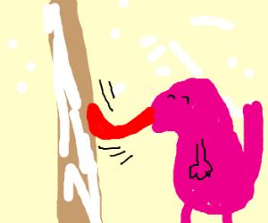 Licking Frozen Pole