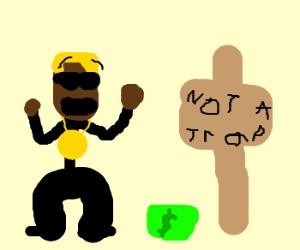 Blonde MC hammer falls for money