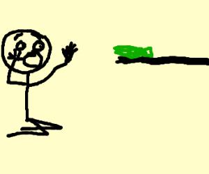 Stickman is afraid of free money