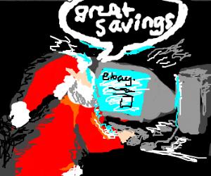Santa cuts costs by using eBay