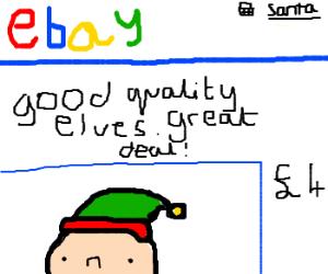 Santa finding great deals on Ebay!
