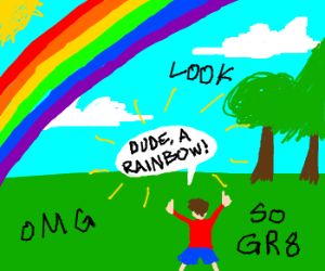 Happy to see a rainbow