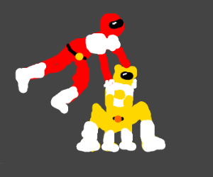 Red and Yellow Ranger Leap Frog