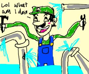 Luigi has no idea how to do his job