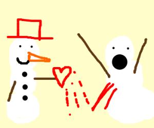 Mr. snowman took snowgirl's heart