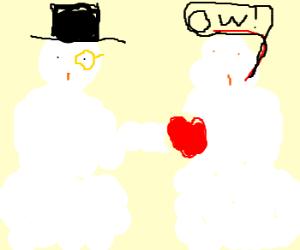 Posh snowman removes heart of inferior